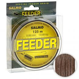 Плетеный шнур Salmo Feeder 125м. 0.20мм. BROWN