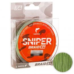 Плетеный шнур SALMO SNIPER BRAID 91м. 0.20мм. ARMY GREEN
