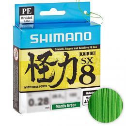 Плетеный шнур SHIMANO KAIRIKI X8 150м. 0.12мм. MANTIS GREEN