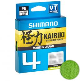 Плетеный шнур Shimano Kairiki X4 150м. 0.19мм. GREEN