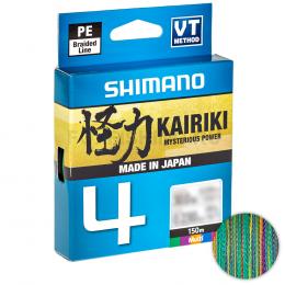 Плетеный шнур Shimano Kairiki X4 150м. 0.315мм. MULTICOLOR