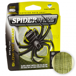 Плетеный шнур Spiderwire Stealth 137м. 0.30мм. GLOW VIS GREEN