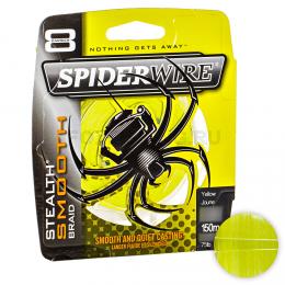 Плетеный шнур SPIDERWIRE STEALTH SMOOTH 8 150м. 0.35мм. HI VIS YELLOW