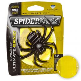 Плетеный шнур SPIDERWIRE ULTRACAST ULTIMATE-BRAID 8 110м. 0.25мм. LOW VIS YELLOW