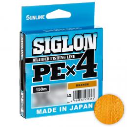 Плетеный шнур SUNLINE SIGLON X4 150м. 0.094 ORANGE