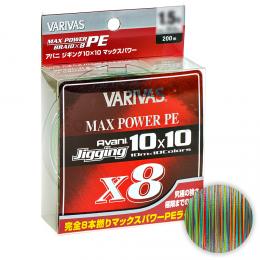 Плетеный шнур Varivas Avani Jigging 10x10 MAX POWER 200м. 1.5PE MULTICOLOR
