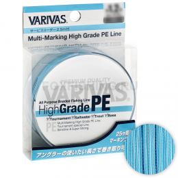 Плетеный шнур VARIVAS HIGH GRADE 300м. 1.2PE BLUE