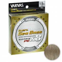 Плетеный шнур VARIVAS SEA BASS MAX POWER SUPER SMOOTH 8 PE X8 150m 0.8 Status Gold