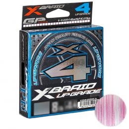 Плетеный шнур Ygk X Braid Upgrade X4 100м. 0.090мм. White pink