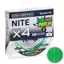 Плетеный шнур YOSHI ONYX NITE X4 135м. 1.5PE GREEN