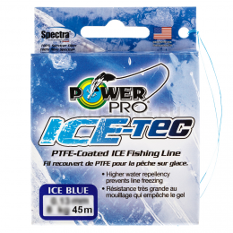 Зимний шнур Power Pro Ice Tec 45м. 0.10мм. BLUE