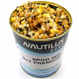 Зерновая смесь NAUTILUS SPOD MIX 3+1 Premium 900ml