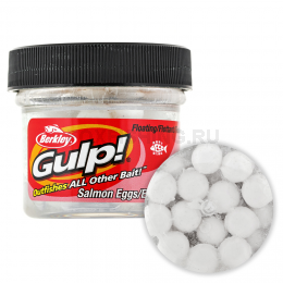 Силиконовая приманка BERKLEY GULP SALMON EGGS 0.5oz WHITE