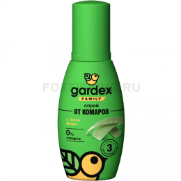 Репеллент Gardex Family спрей от комаров 100мл.