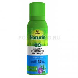 Репеллент Gardex Naturin аэрозоль от комаров и клещей на одежду 100мл