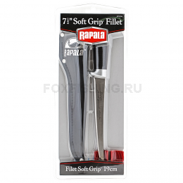 Нож Rapala Филейный лезвие 19 см, мягк. Рукоятка BP707SH1