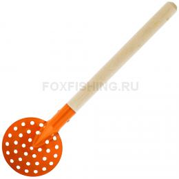 Черпак SPIKE металлический с деревянной ручкой (оранжевый)