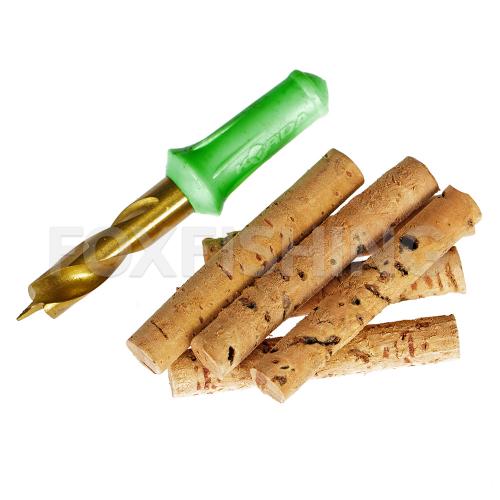 Сверло для бойлов KORDA Drill & Cork Sticks 8 mm (Набор сверло + пробковые палочки) фото №1
