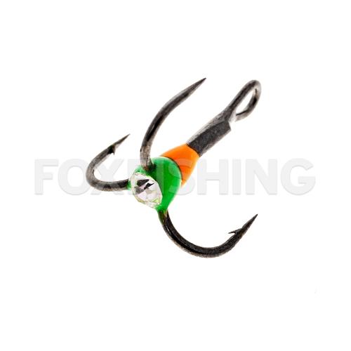 Крючки OOSHIMA HOOKS №6 оранжевый-зеленый со стразой фото №1