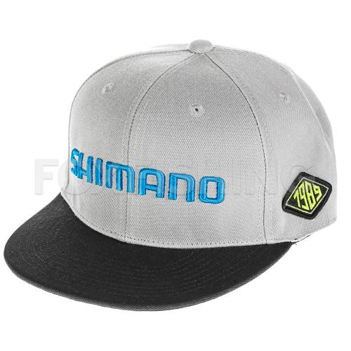 Бейсболка SHIMANO FLAT BRIM CAP GRAY фото №1