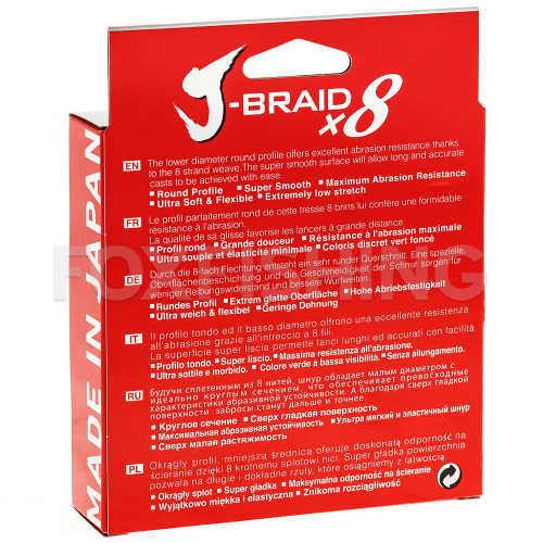 Плетеный шнур DAIWA J-BRAID X8 150м. 0.06мм. CHARTREUSE фото №2