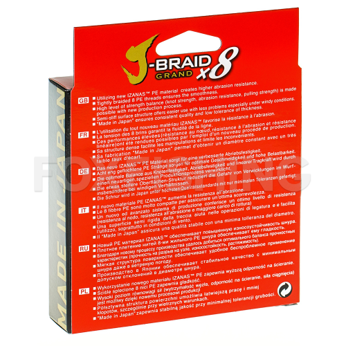 Плетеный шнур DAIWA J-BRAID GRAND X8 135m 010 GRAY LIGHT фото №2