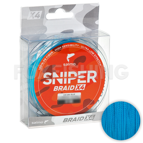 Плетеный шнур Salmo Sniper Braid 120м. 0.232мм. BLUE фото №1