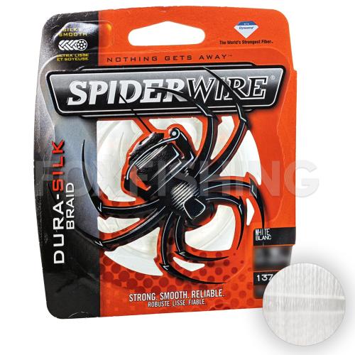 Плетеный шнур SPIDERWIRE DURA-SILK 137м. 0.30мм. WHITE фото №1
