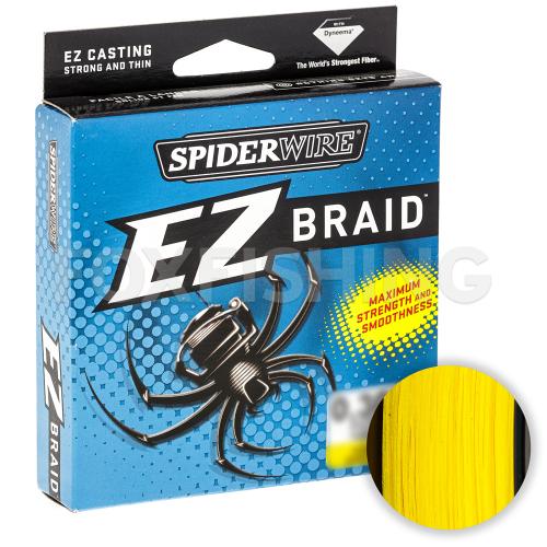 Плетеный шнур SPIDERWIRE EZ 100м. 0.35мм. HI VIS YELLOW фото №1