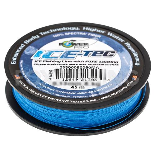 Зимний шнур POWER PRO ICE TEC 45м. 0.15мм. BLUE фото №2