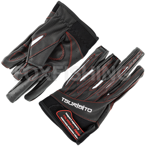 Перчатки TSURIBITO GLOVES LFG-110 черный с белым фото №1