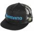 Бейсболка SHIMANO FLAT BRIM CAP BLACK фото №1