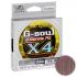 Плетеный шнур YGK G-SOUL X4 UPGRADE 150м. 0.8PE PINK-GRAY фото №1