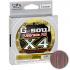 Плетеный шнур YGK G-SOUL X4 UPGRADE 200м. 2PE PINK-GRAY фото №1
